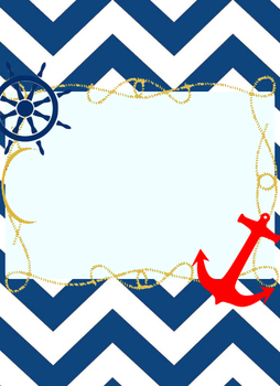 Nautical Chevron Teacher's Binder and Resource Printables