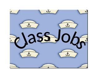 Nautical Chevron adjustable class jobs