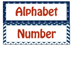 Nautical Circle Time Labels