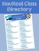 Nautical Class Directory