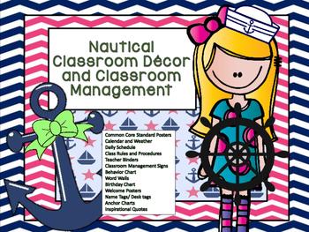 Nautical Class Schedule Cards
