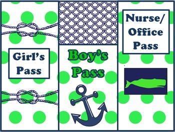 Nautical Classroom Theme Bundle Free: Lime Green and Navy