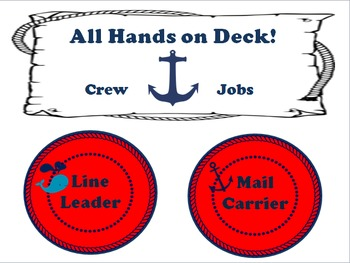 Nautical Classroom Theme Bundle Free: Red and Navy