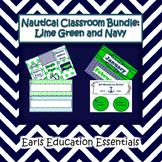 Nautical Classroom Theme Bundle: Lime Green and Navy