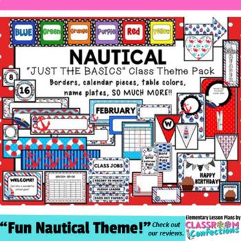 Nautical Theme: Nautical Classroom Decor Basics: Nautical