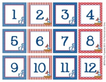 Nautical Classroom Decor Calendar Numbers