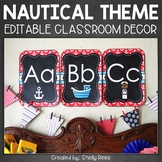 Nautical Classroom Theme - Editable Classroom Decor
