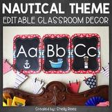 Nautical Classroom Theme   Classroom Themes Decor Bundle EDITABLE