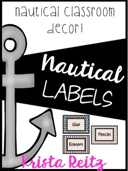 Nautical Classroom Decor {Labels}