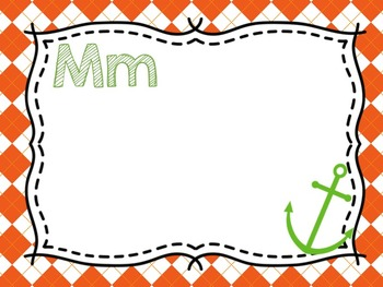 Nautical Classroom Decor {Orange, Lime Green and Turquoise}