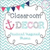 Nautical Classroom Decor Set