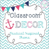 Nautical Classroom Decor Set