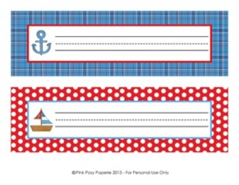 Nautical Classroom Desk Name Plates