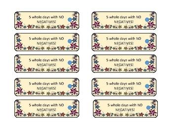 Nautical, Classroom Dojo Brag Tags- counting days