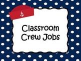 Nautical Classroom Job Chart