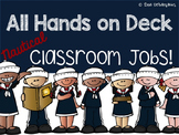 Nautical Classroom Jobs {Editable}