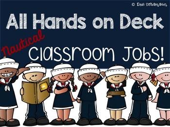 Nautical Classroom Jobs {Editable}