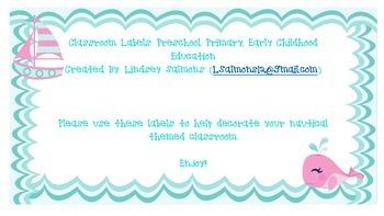 Nautical Classroom Labels