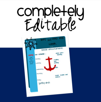 Nautical Classroom Newsletter