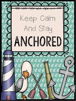 Nautical Classroom Posters {Lighthouse, Anchor, Sailboat, Sailor}