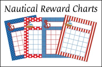 Nautical Classroom Reward Incentive Charts - 4 Different Designs