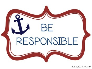 Nautical Classroom Rules Set