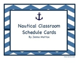 Nautical Classroom Schedule Cards