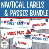 Nautical Classroom Subject Labels