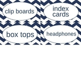 Nautical Classroom Supply Labels