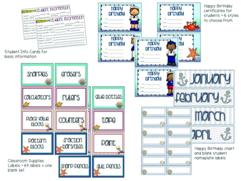 Nautical Classroom-Theme Bundle