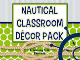 Nautical Classroom Theme Decor {Lime & Navy} EDITABLE
