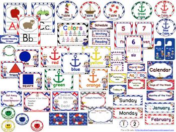Nautical Classroom Theme Pack