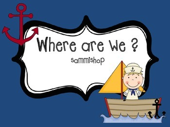 """Nautical Classroom """"Where are We?"""" Signs"""