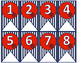Nautical Classroom Numbers in 4 Colors