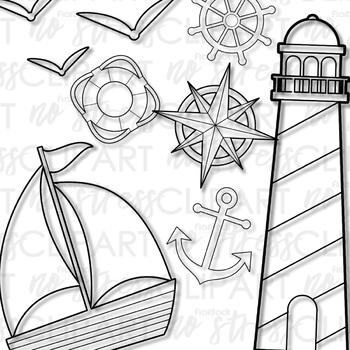 Nautical Clip Art (Digital Use Ok!)