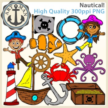 Nautical Clipart {Anchor Art Man}