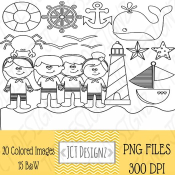 Nautical Clipart: Nautical clip art, anchor, lighthouse,whale, sailor, sailboat.