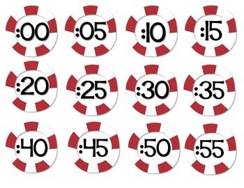 Nautical Clock Labels