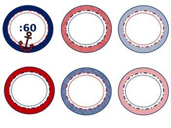 Nautical Clock Numbers