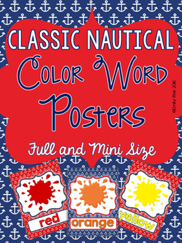 Nautical Color Posters - Classic Navy and Red
