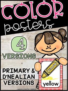 Nautical Color Posters - Nautical Classroom Decor