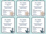Nautical Contact Magnet/Contact Card