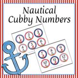Nautical Cubby Number Labels 1-30