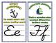 Nautical Cursive Alphabet Line & ELA Terms