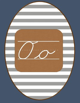 Nautical Cursive Alphabet Navy and White