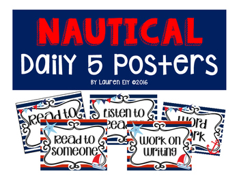 Nautical Daily 5 Posters