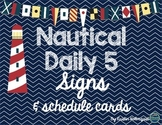 Nautical Reading Rotation Signs &  Schedule Cards