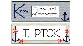 Nautical Daily Five I-Pick Signs