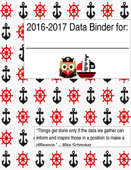Nautical Data Binder Cover