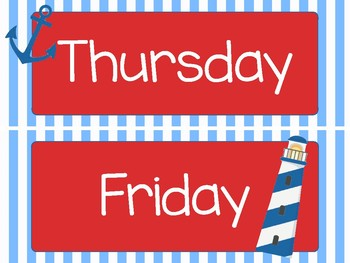Nautical Days of the Week